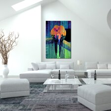 """Lovebirds Neon"" Graphic Art on Canvas"