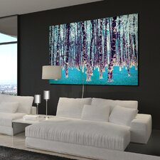 """Lucid Birch"" Graphic Art on Canvas"