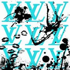 """""""I Love Louis Aqua"""" Canvas Art"""