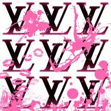 """I Love Louis Pink"" Canvas Art"