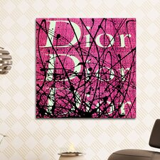 """""""Iconic Scribble Pink"""" Canvas Art"""
