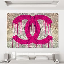 """Read It In The News Pink"" Canvas Art"