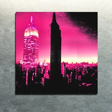 """I Am New York Pink"" Canvas Art"
