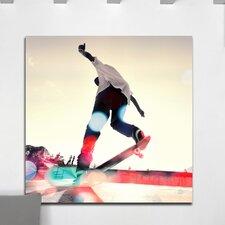 """Skateboard Daydream"" Canvas Art"