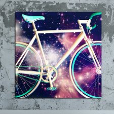 """Space Bike"" Canvas Art"