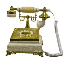 <strong>ORE Furniture</strong> Classic Telephone in Ivory