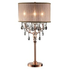 "Rosie Crystal 32"" H Table Lamp with Drum Shade"