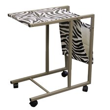 Zebra Print Laptop Cart