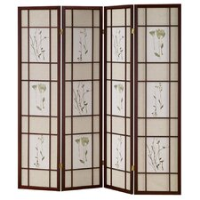 4 Panel Room Divider in Cherry