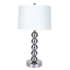 "Metal 29"" H Table Lamp with Drum Shade"