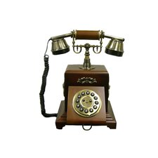 <strong>ORE Furniture</strong> Classic Telephone in Mahogany Vintage