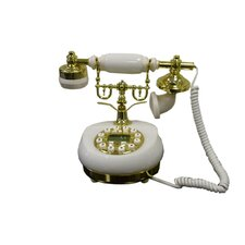 <strong>ORE Furniture</strong> Classic Telephone in White Marble