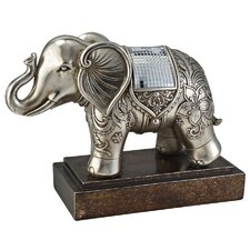 Chrysanthemum Elephant Figurine
