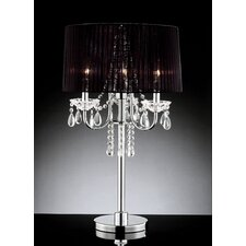 Crystal Drop 3 Light Table Lamp