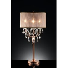 Rosie Crystal 3 Light Table Lamp