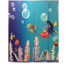 "71"" x 64"" Finding Nemo 4 Panel Room Divider"