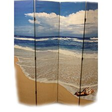 "<strong>ORE Furniture</strong> 71"" x 64"" Seashore 4 Panel Room Divider"