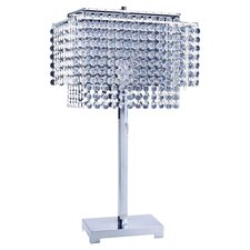 "Crystal 28"" H Table Lamp with Circular Artificial Crystals"