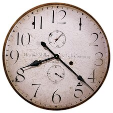 "Moment In Time Original Howard Miller V Oversized  25"" Wall Clock"