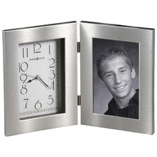 <strong>Howard Miller®</strong> Lewiston Tabletop Clock with Picture Frame