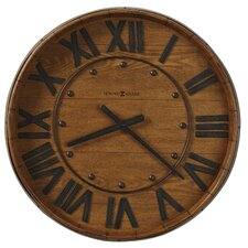 "Oversized 25"" Wine Barrel Wall Clock"