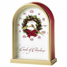 <strong>Howard Miller®</strong> Musical and Chiming Carols of Christmas Holiday Table Clock