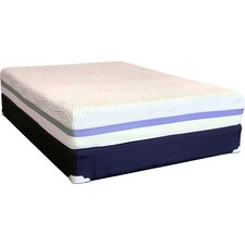 "Comfort Zone 21"" Latex Foam Mattress and Foundation Set"