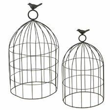 2 Piece Bird Cloche Set