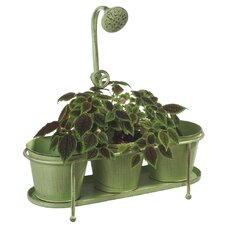 <strong>Midwest Seasons</strong> Triple Water Spicket Garden Round Pot Planter