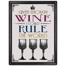 Given Enough Wine Wall Art