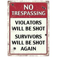 No Trespassing Wall Art
