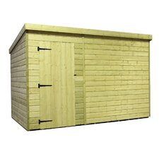 Pent Shed with Left Door