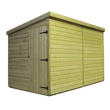 Pent Shed with Left Side Door
