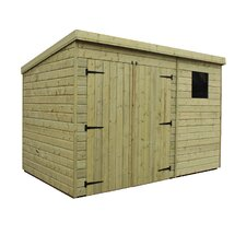Pent Shed with Left Window