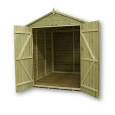 Premier Apex Shed with Double Door and 3 Windows