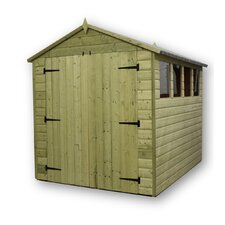 Premier Apex Shed with Double Door 4 Windows