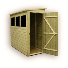 Rev Pent Shed with 3 Right Side Windows