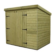 Pent Shed with Left Double Door