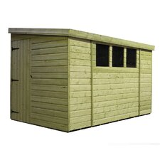 Rev Pent Shed with 3 Left Windows