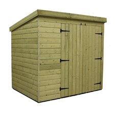 Pent Shed with Right Double Doors