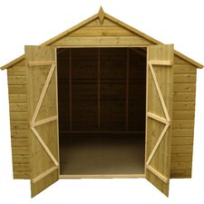 Apex Shed with Double Door and 6 Windows