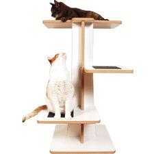 "<strong>Square Cat Habitat</strong> 36"" Acacia Cat Tree"