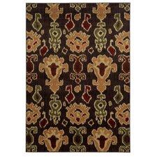 Lenoir Brown / Gold Abstract Rug