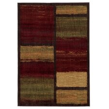 Lenoir Brown / Red Abstract Rug