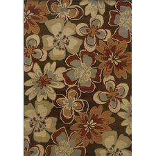 Sevilla Brown/Gold Floral Rug