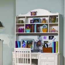 Summer Breeze Computer Desk Hutch in Distressed Simple White