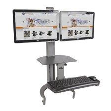 TaskMate Go Dual Monitor Desk