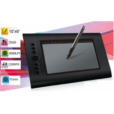 "Turcom 10"" x 6.25"" Graphic Drawing Tablet"