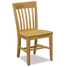 Benchmark Wood Post Leg Slat Back Chair
