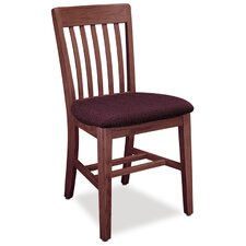 Benchmark Upholstered Post Leg Slat Back Chair